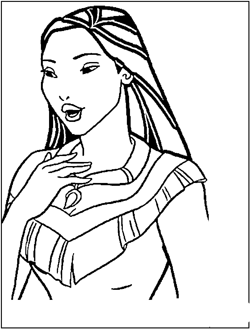 Pocahontas Coloring Pages Pocahontas To Color For Children Pocahontas Kids Coloring Pages