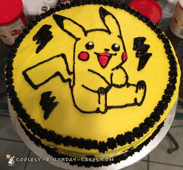 Pokemon Birthday Cake Cool Diy Pikachu Birthday Cake