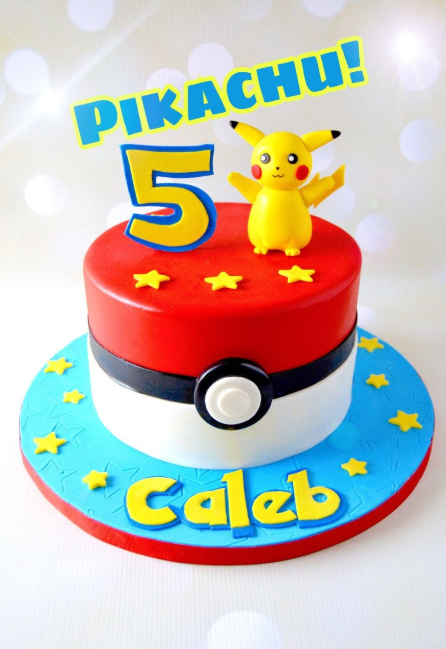 Pokemon Birthday Cake Pikachu Cake Topper Pokmon Cake Topper Pokemon Cake Pokemon Cake