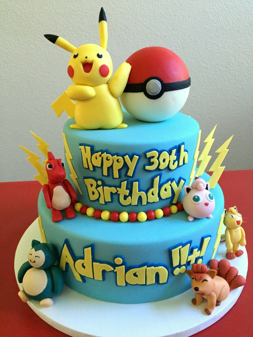 Pokemon Birthday Cake Pin Cake Couture Love On Custom Cakes Pinterest Pokemon