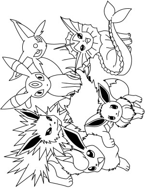 Pokemon Coloring Pages Eevee Awesome All Pokemon Coloring Pages 24 For With All Pokemon Coloring