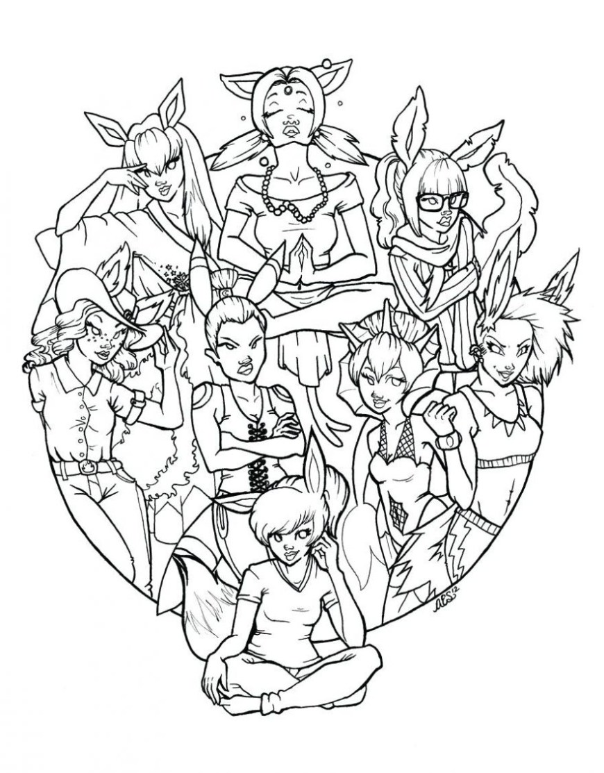 Pokemon Coloring Pages Eevee Pokemon Coloring Pages Eevee Evolutions At Getdrawings Free