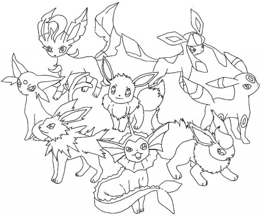 Pokemon Coloring Pages Eevee Pokemon Coloring Pages Eevee