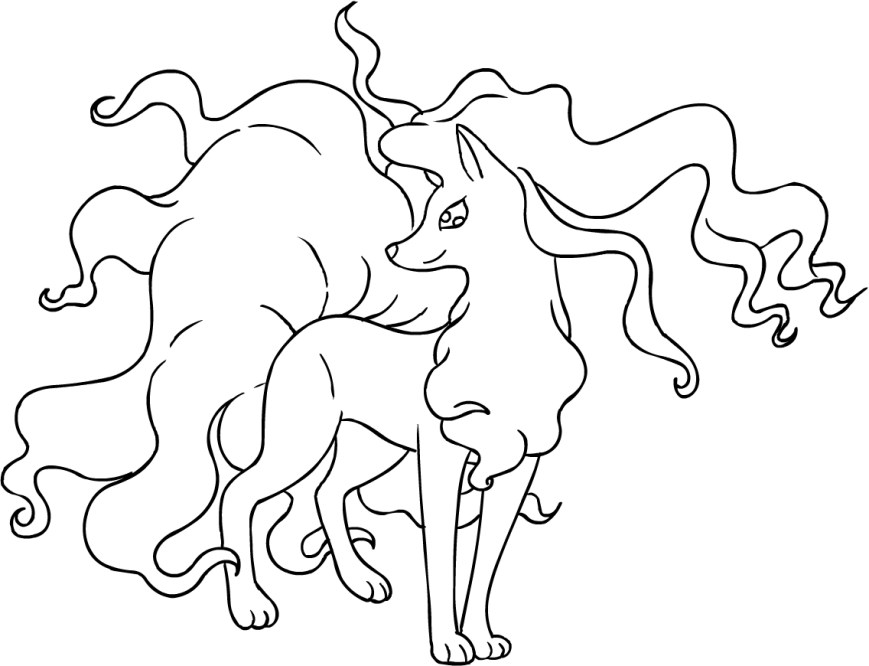 Pokemon Sun And Moon Coloring Pages Drawing Alolan Ninetales Of The Pokmon Sun And Moon Coloring Page