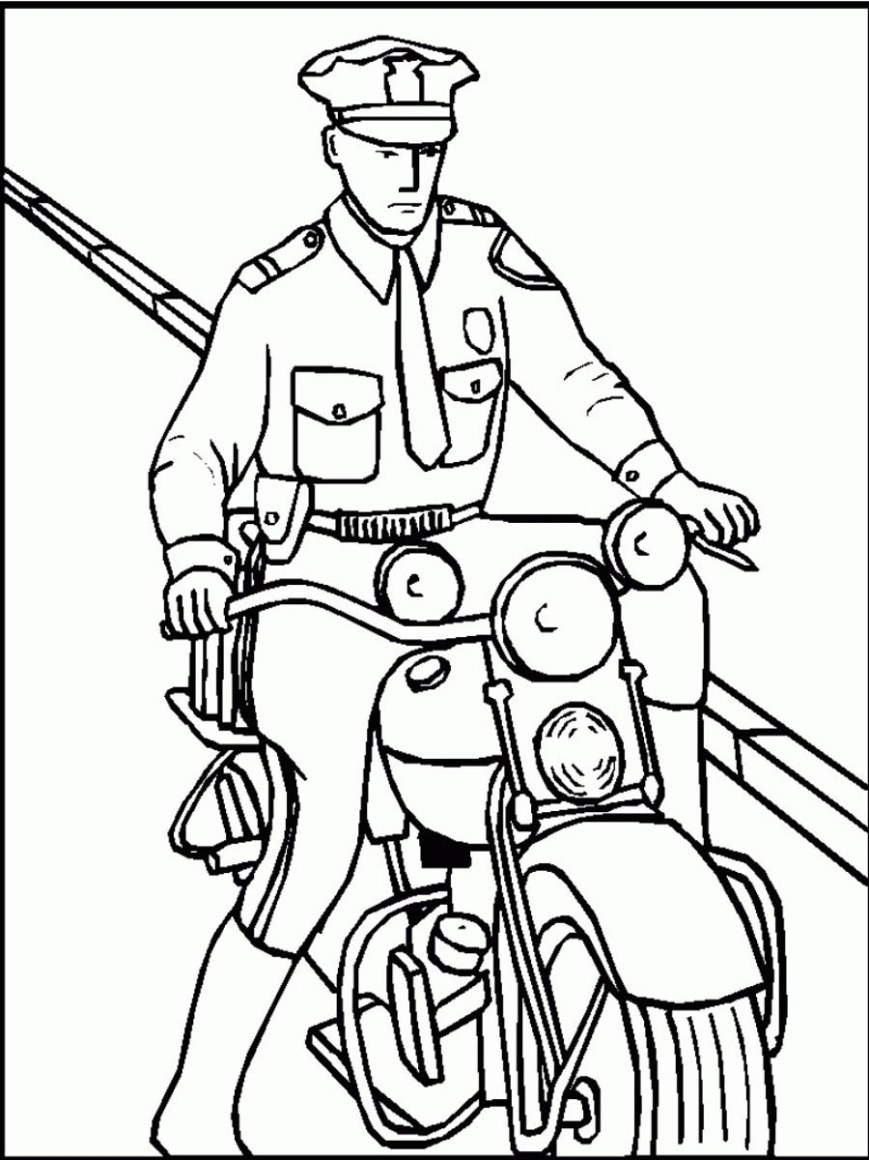 Police Officer Coloring Pages Free Printable Policeman Coloring Pages For Kids