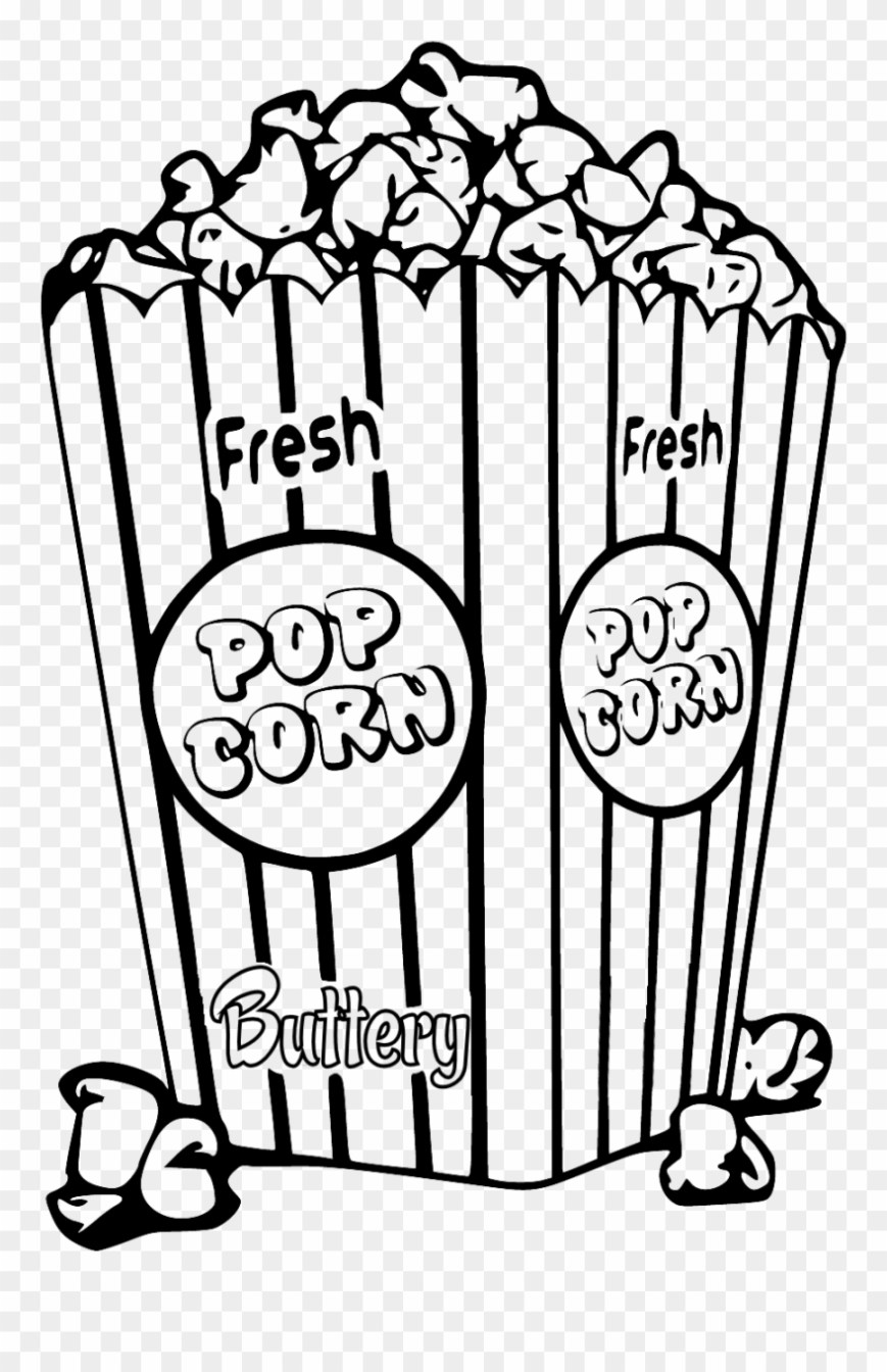 Popcorn Coloring Page Create With Tlc Popcorn Coloring Page Clipart 106130 Pinclipart