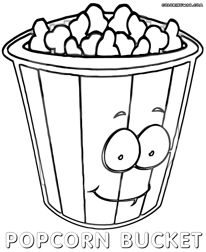 Popcorn Coloring Page Popcorn Coloring Page Luxury Image New Popcorn Box Coloring Sheet