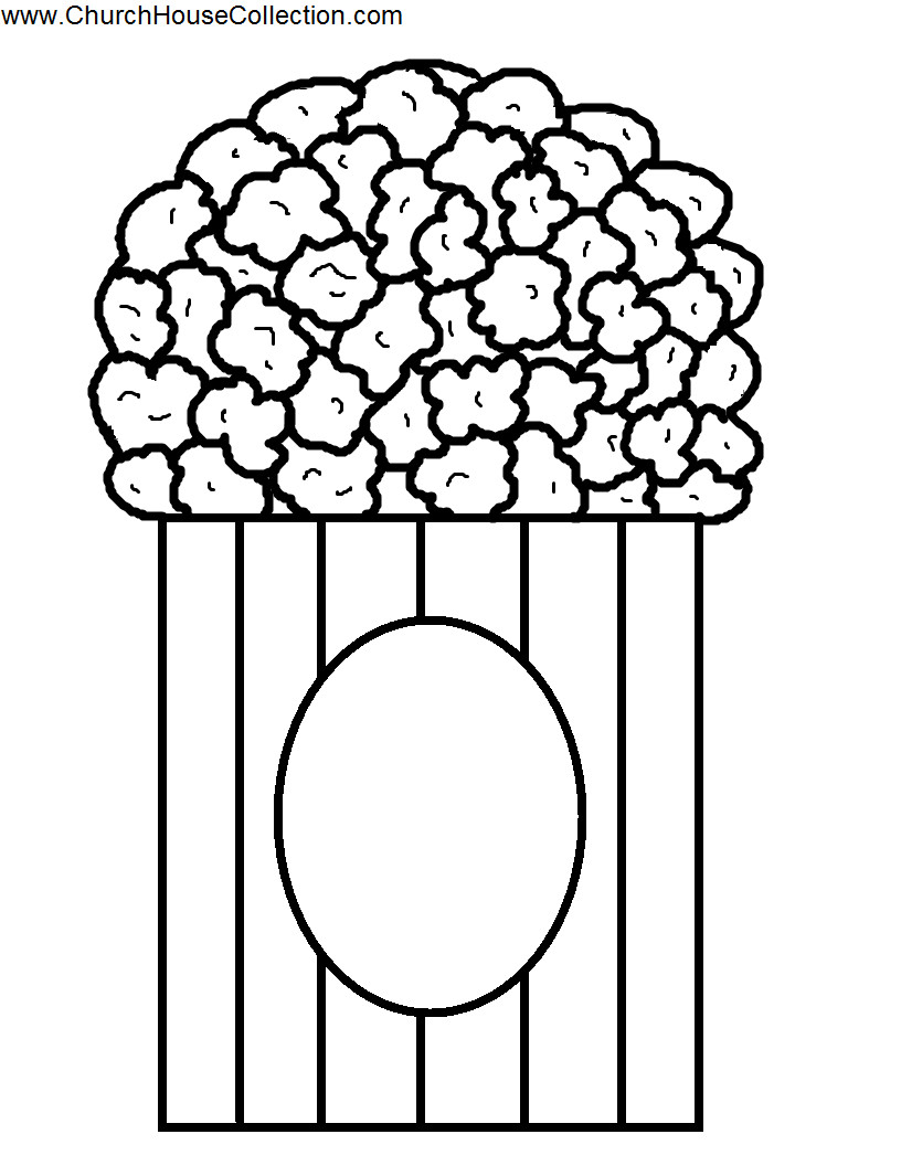 Popcorn Coloring Page Popcorn Coloring Pages