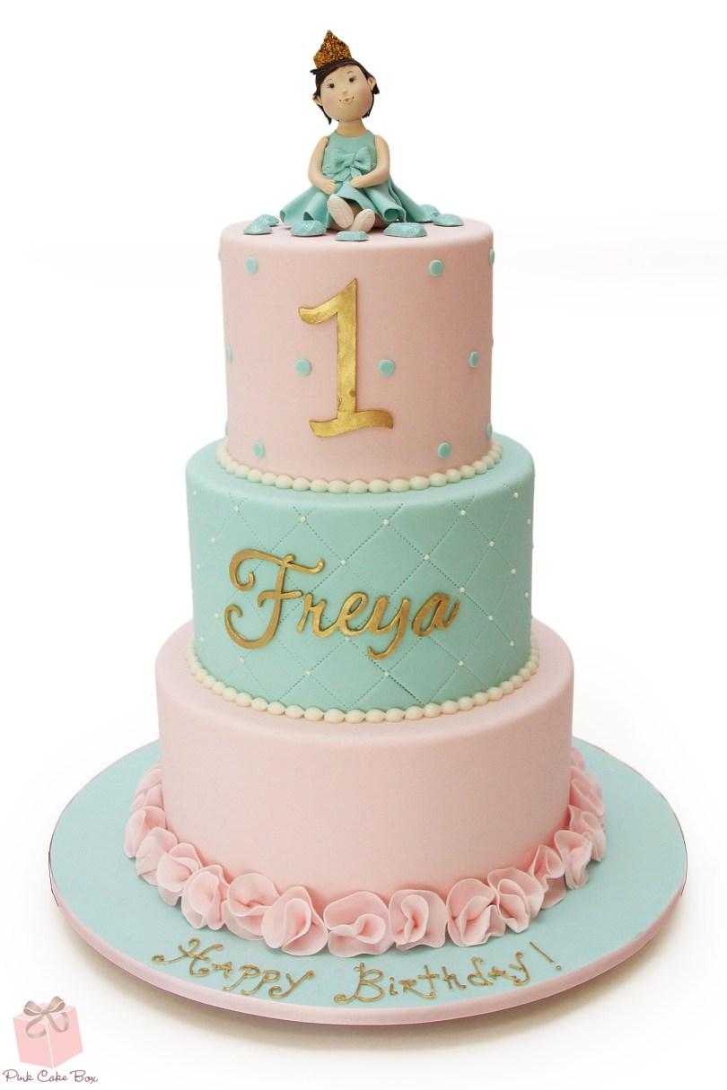 Princess Birthday Cake Freyas First Birthday Princess Cake