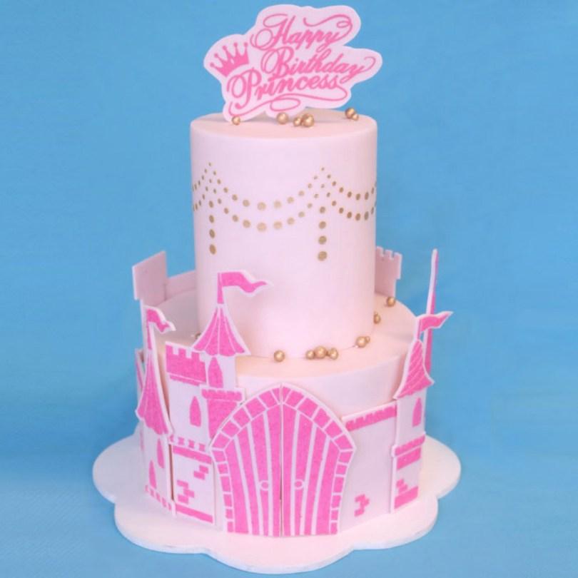 Princess Birthday Cake Princess Birthday Cake Stencil Set Evil Cake Genius