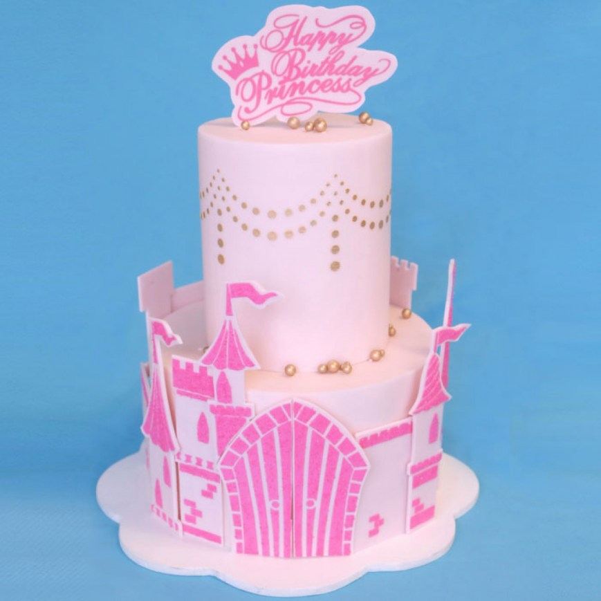 Princess Birthday Cake Princess Birthday Cake Stencil Set Evil Cake Genius