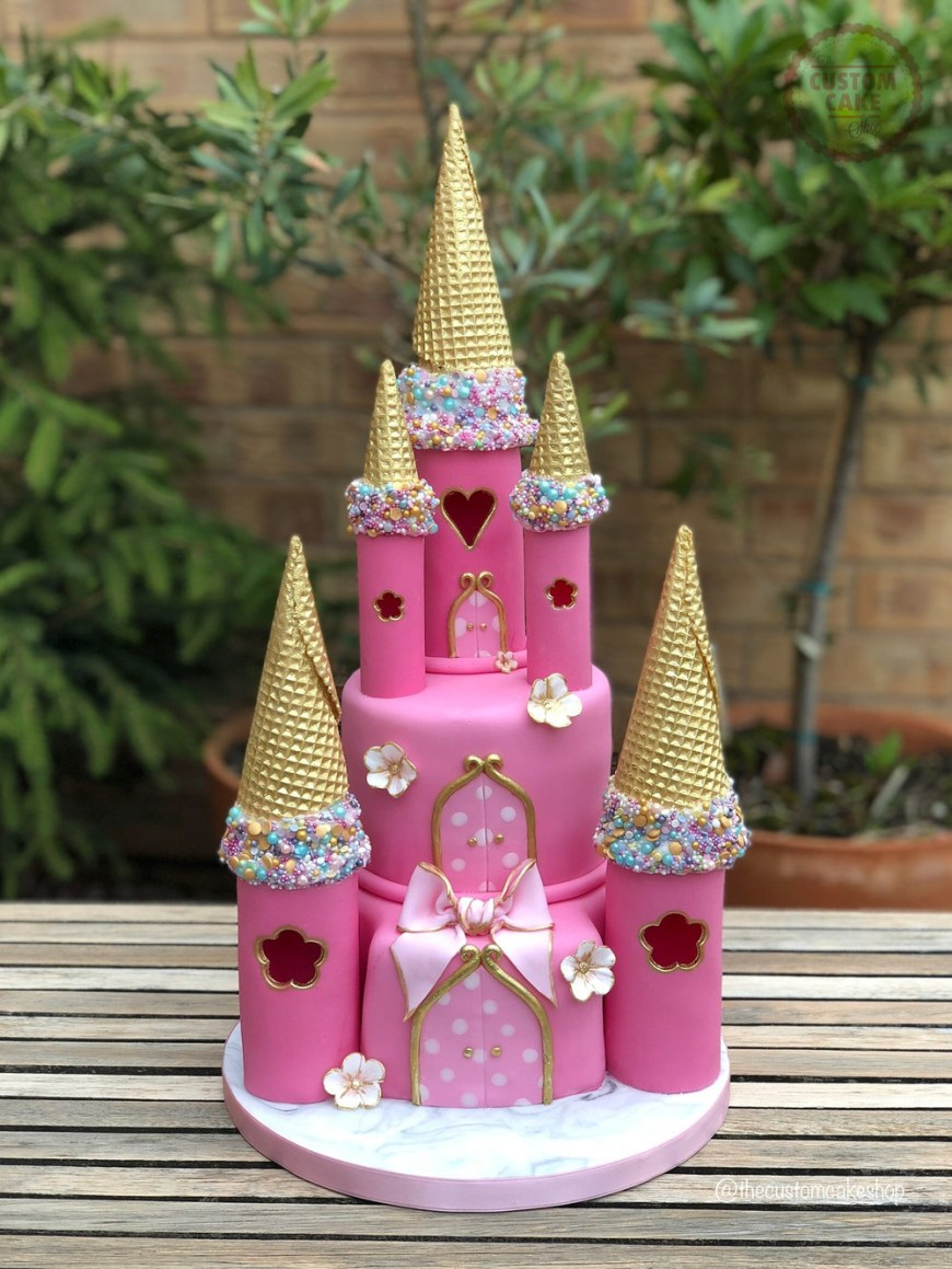 Princess Birthday Cake Princess Castle Birthday Cake Custom Cake Classes