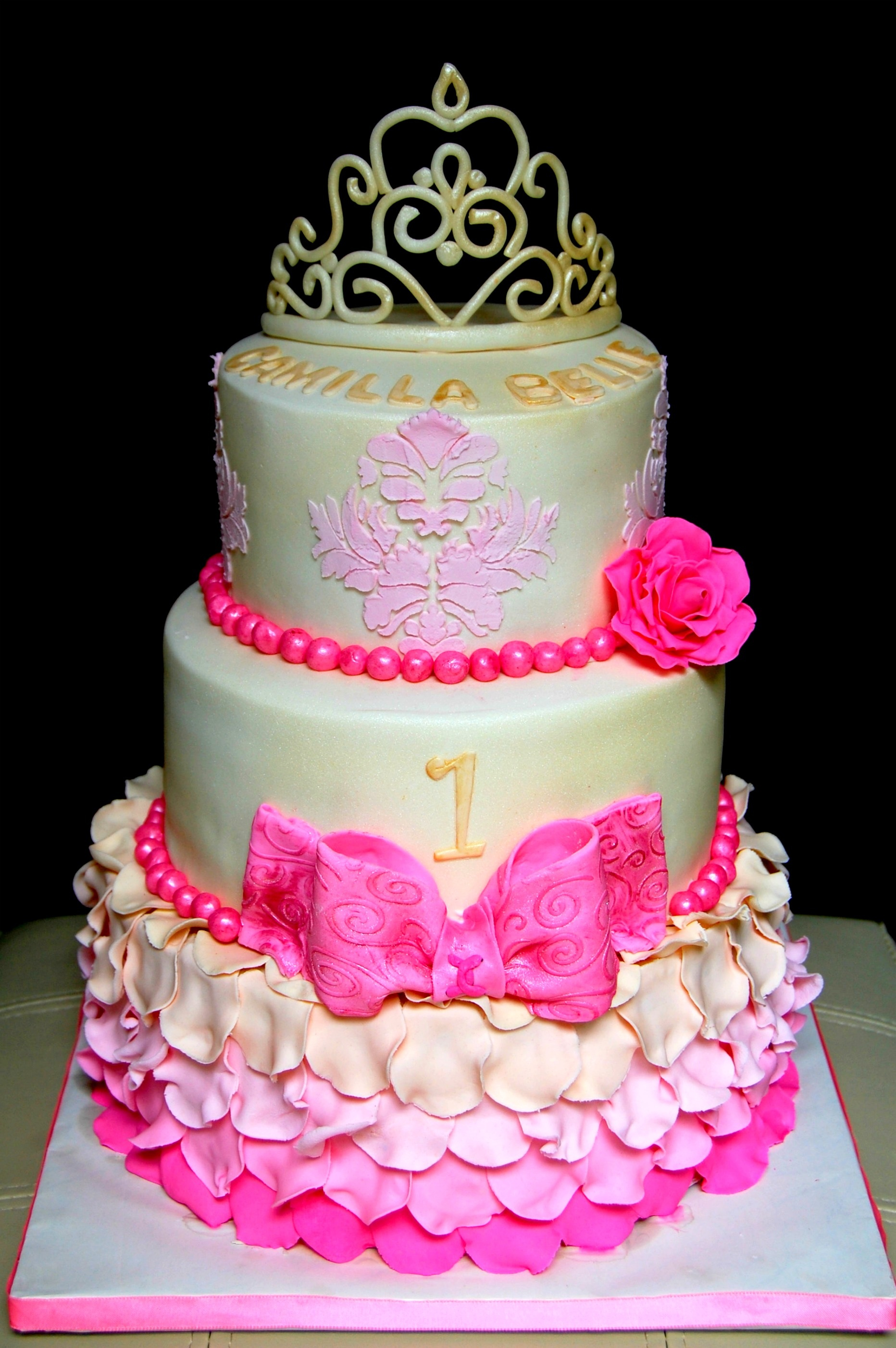 Princess Birthday Cake Vintage Themed