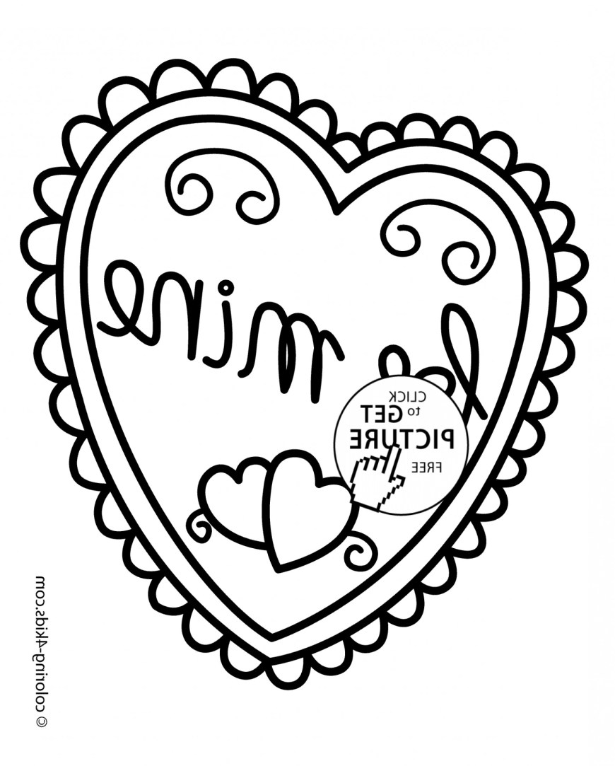Printable Heart Coloring Pages Heart Coloring Pages Mysyria