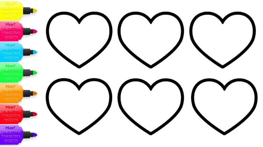 Printable Heart Coloring Pages Printable Heart Coloring Pages Adults Printable Coloring Page For Kids