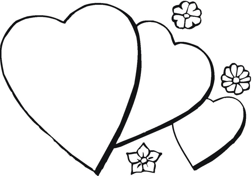 Printable Heart Coloring Pages Printable Heart Coloring Pages At Getdrawings Free For