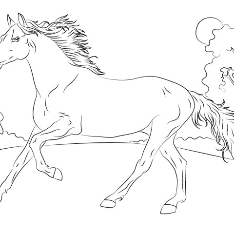 Printable Horse Coloring Pages Horses Coloring Pages Free Coloring Pages