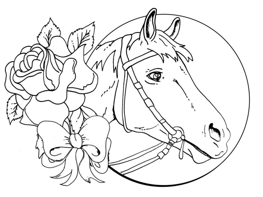 Printable Horse Coloring Pages Horses Coloring Pages Printable Sheets Spirit Horse Head Pages Free
