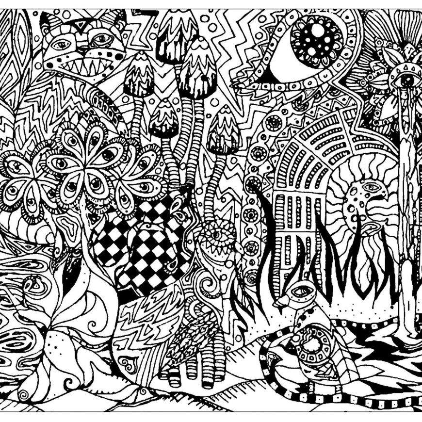 Psychedelic Coloring Pages Psychedelic Coloring Pages Print At Getdrawings Free For