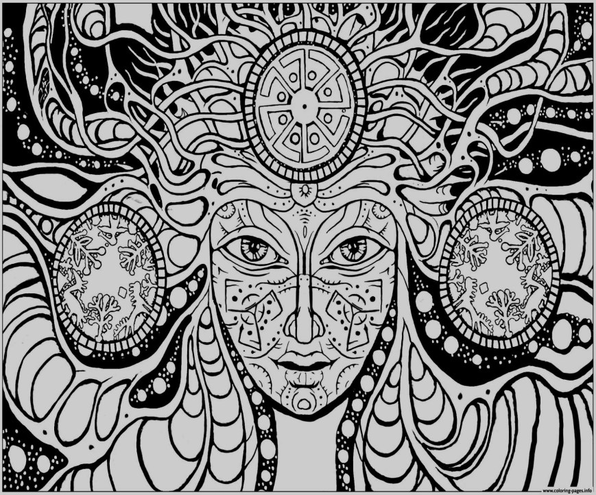 Psychedelic Coloring Pages Trippy Coloring Pages Free Printable Psychedelic Coloring Pages