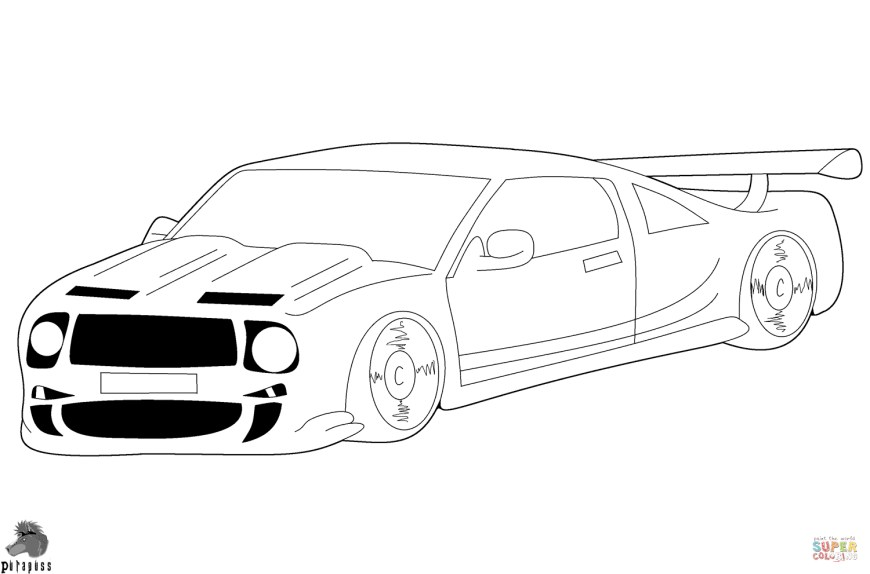 Race Car Coloring Pages Race Car Coloring Page Free Printable Coloring Pages