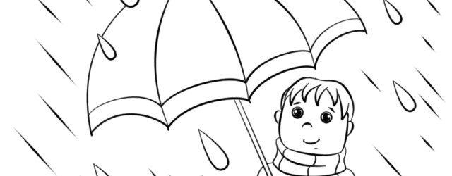 Rain Coloring Page Spring Rain Coloring Page Free Printable Coloring Pages