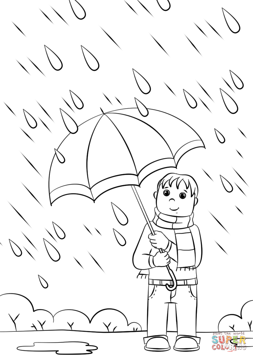 Rainy Day Coloring Pages Rainy Day Coloring Page Free Printable Coloring Pages