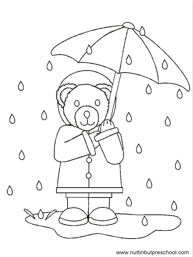 Rainy Day Coloring Pages Rainy Day Coloring Pages For Preschoolers 001 Diywordpress