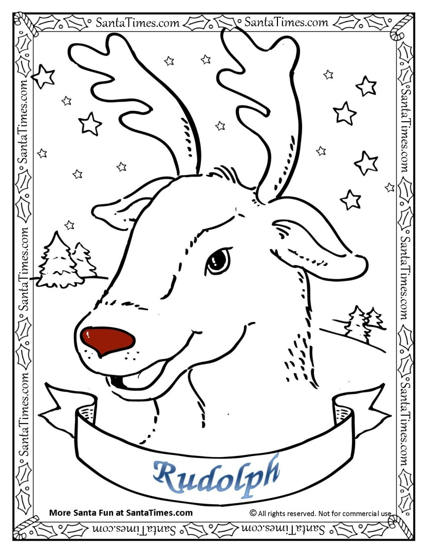 Rudolph The Red Nosed Reindeer Coloring Pages Rudolph The Red Nosed Reindeer