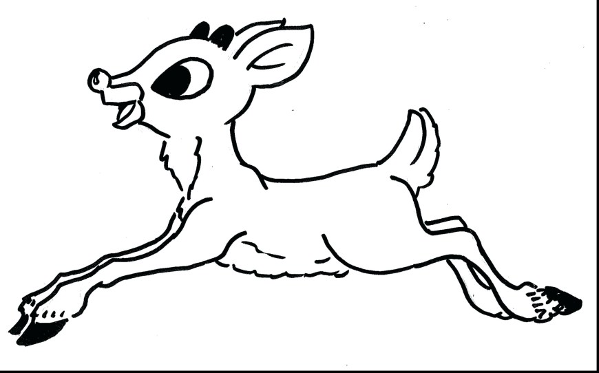 Rudolph The Red Nosed Reindeer Coloring Pages The Red Nosed Reindeer Coloring Page Rudolph Pages C Enigmatikco