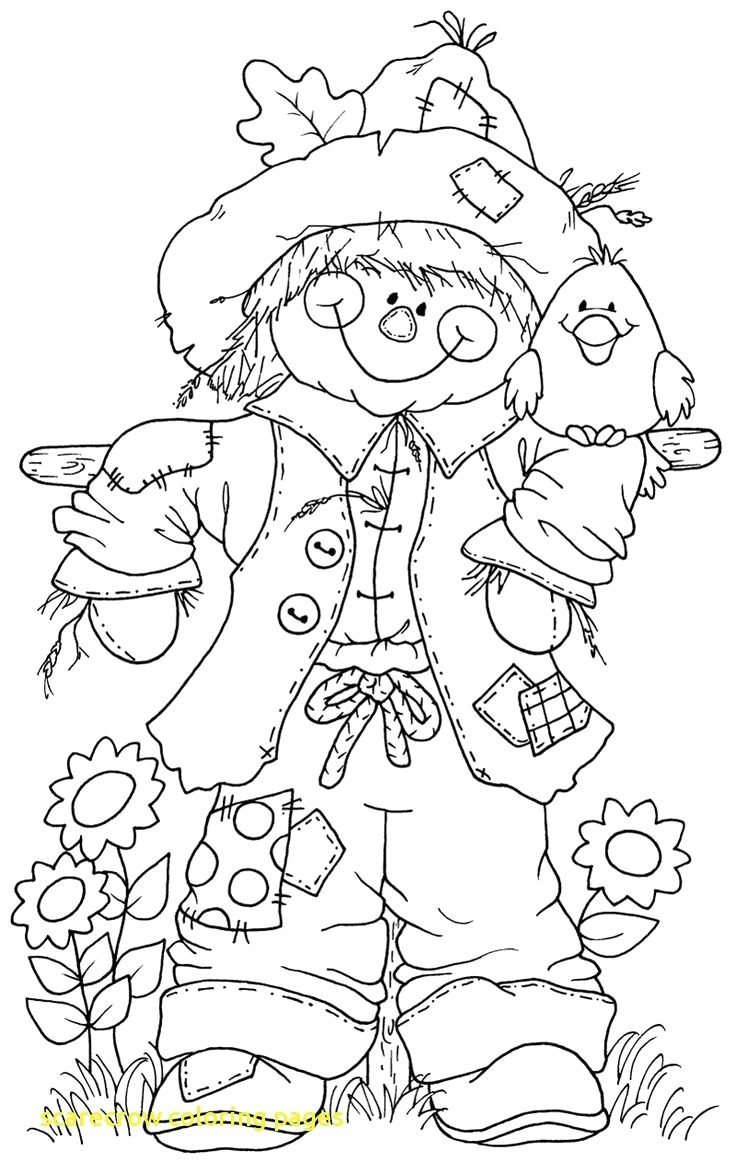 Scarecrow Coloring Page Free Printable Scarecrow Coloring Pages Printable Coloring Page