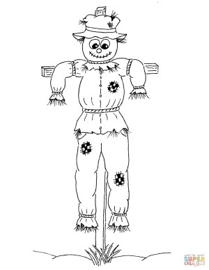 Scarecrow Coloring Page Hay Day Coloring Pages Scarecrow Coloring Page Free Printable