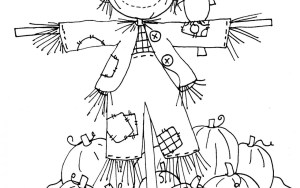 Scarecrow Coloring Page Scarecrow Coloring Pages For Preschool At Getdrawings Free For