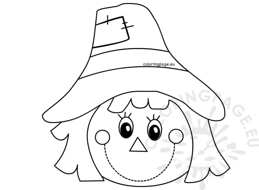 Scarecrow Coloring Page Scarecrow Coloring Pages Free Drawings Autumn Page Face Page 1581