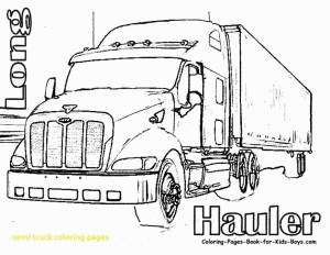Semi Truck Coloring Pages Peterbilt Coloring Pages Semi Truck With Free Printable Arilitv And