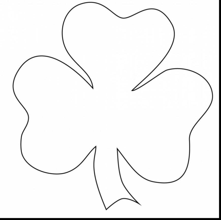 Shamrock Coloring Pages Shamrock Coloring Pages Incredible Printable With Best Free