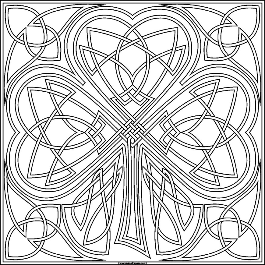 Shamrock Coloring Pages Top Shamrock Coloring Sheets Best Pages Ideas Free 9 For Adults 5