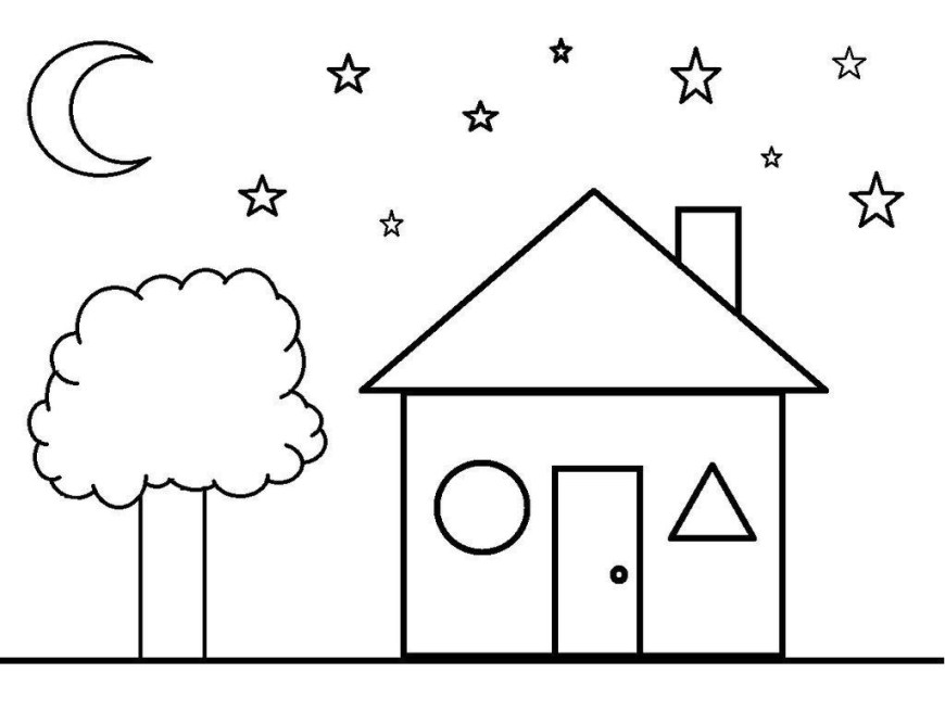 Shapes Coloring Pages Different Shapes Coloring Pages