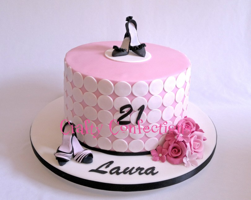 Shoe Birthday Cake Pink Girly Shoe Themed 21st Birthday Cake The Request He Flickr