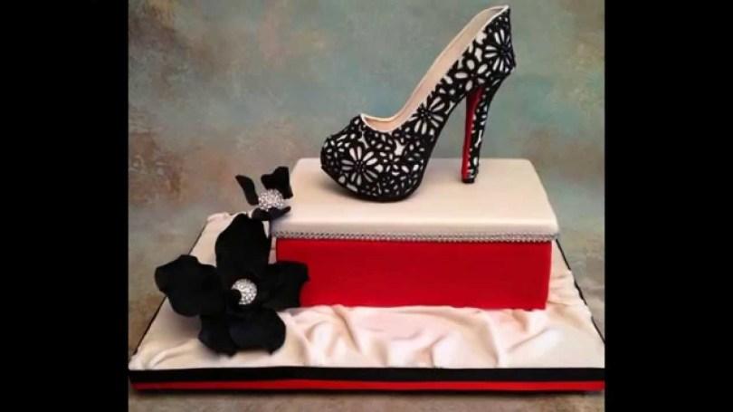 Shoe Birthday Cake The Birthday Cake Beautiful Shoe To A Dear Youtube