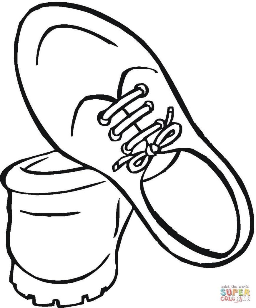 Shoe Coloring Page Coloring Page Shoe Coloring Page Jordan Shoesring Pages Printable