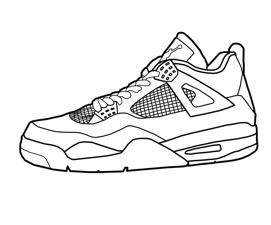 Shoe Coloring Page Jordan Shoes Coloring Pages Coloring Home