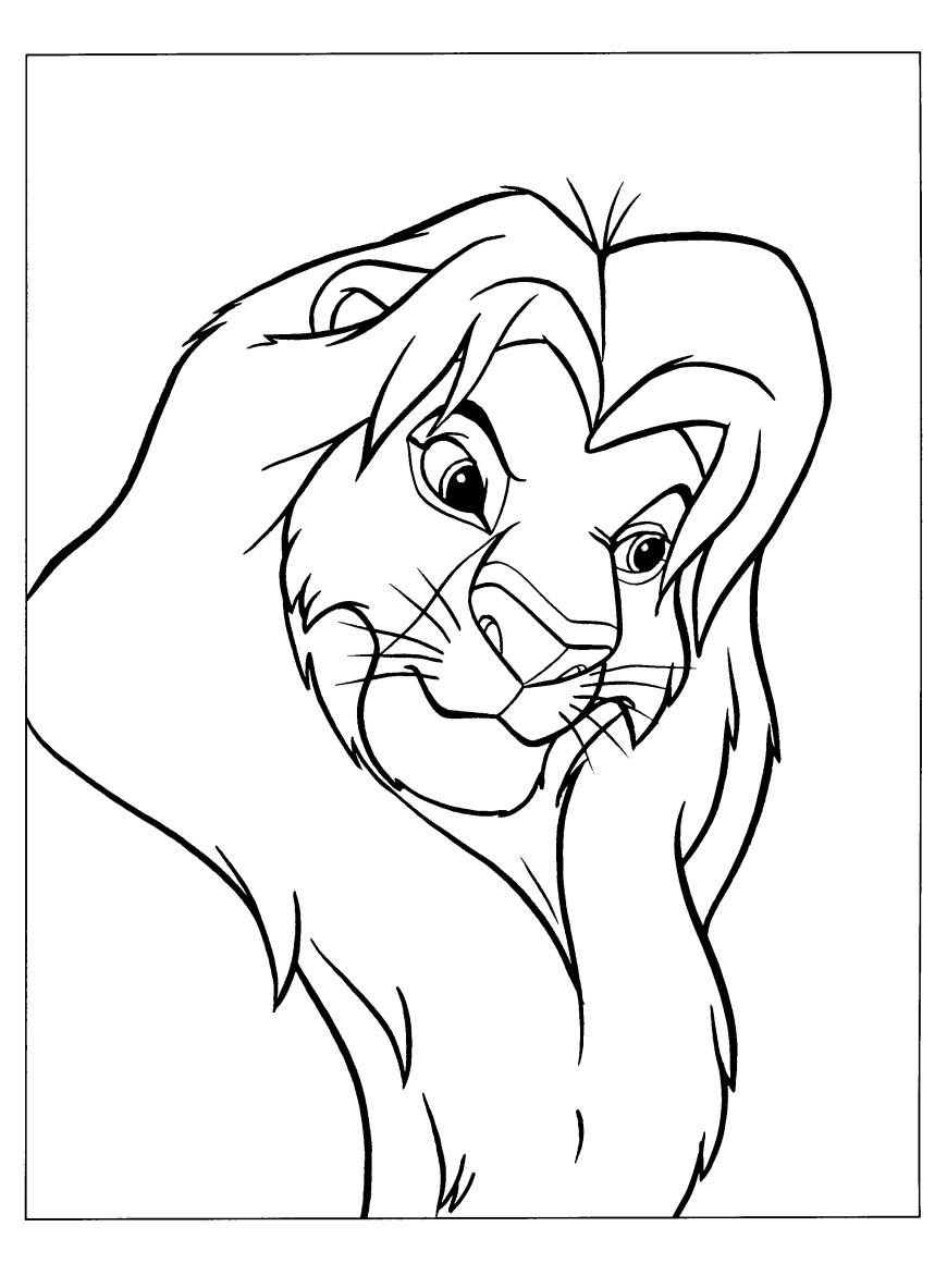 Simba Coloring Pages Adult Simba Coloring Pages Color Bros