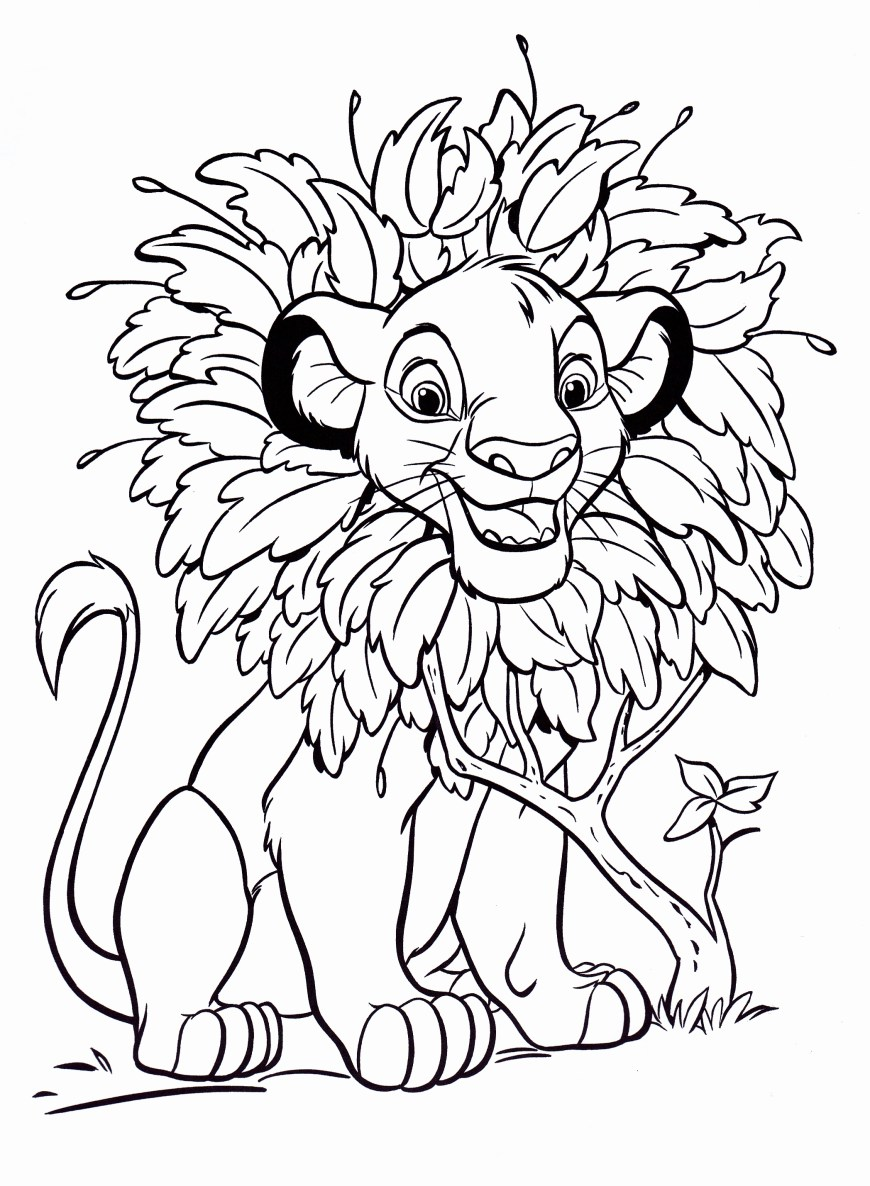 Simba Coloring Pages Walt Disney Characters Afbeeldingen Walt Disney Coloring Pages