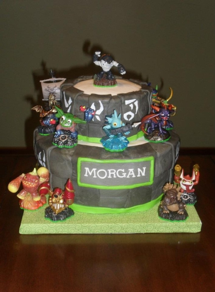 Skylander Birthday Cake Skylander Birthday Cake Cakecentral