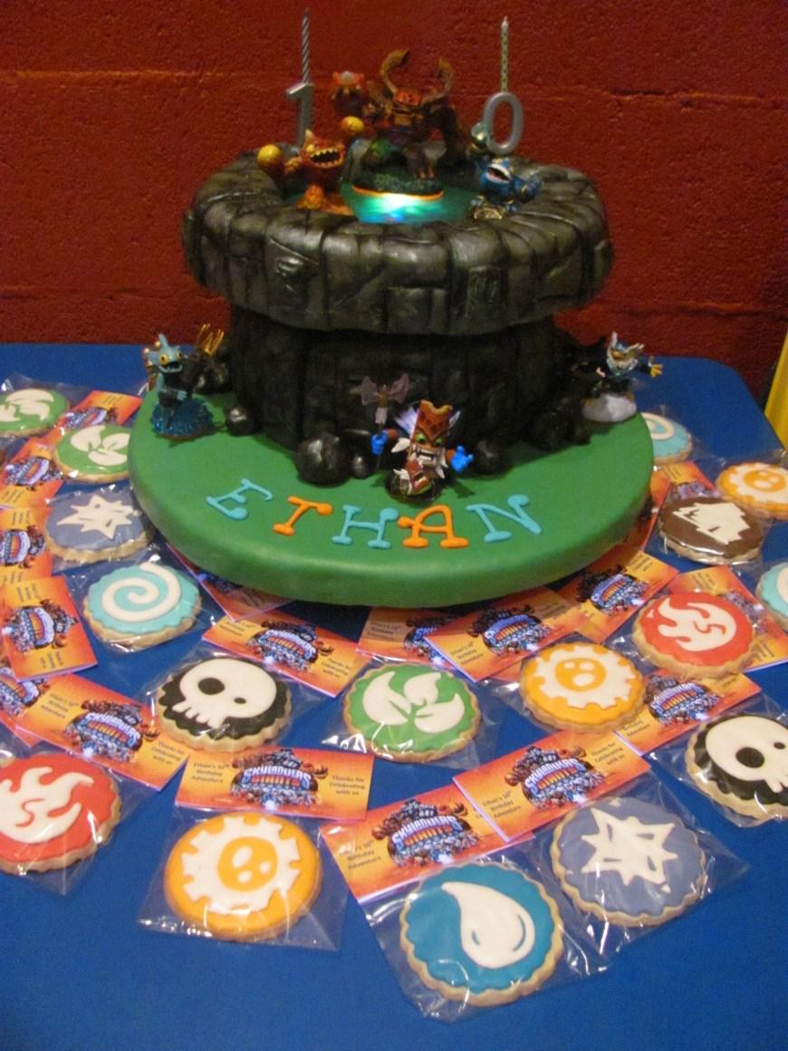 Skylander Birthday Cake Skylander Birthday Cake Elements Cookies Birthday Stuff Pinterest