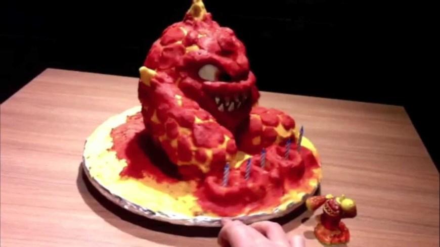 Skylander Birthday Cake Skylanders Birthday Cake Eruptor Youtube
