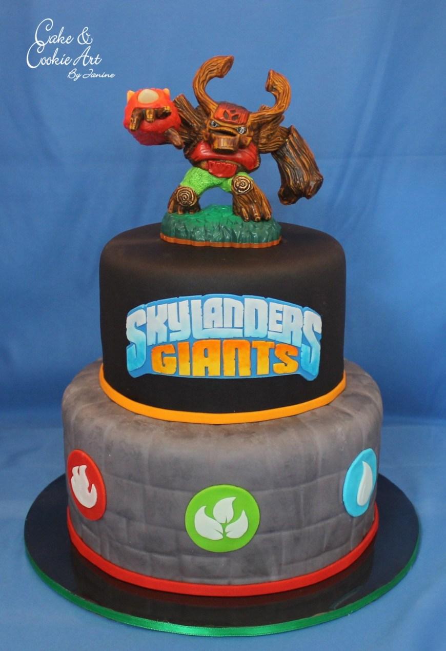 Skylander Birthday Cake Skylanders Theme Cake Skylander Bday Pinterest Birthday