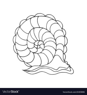 Snail Coloring Page Snail Coloring Page Royalty Free Vector Image Vectorstock