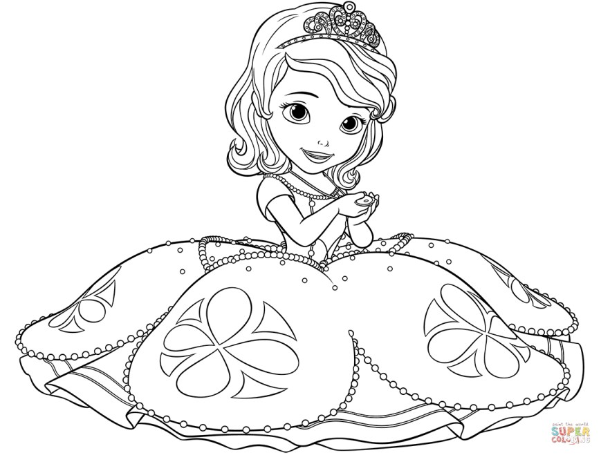 Sofia Coloring Pages Sofia The First Coloring Pages Free Coloring Pages